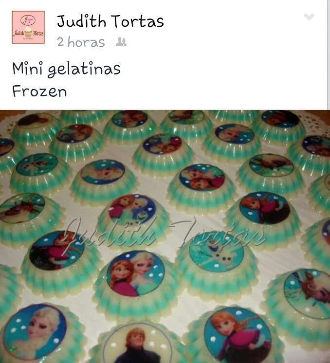 "Mini gelatinas ""Frozen"""