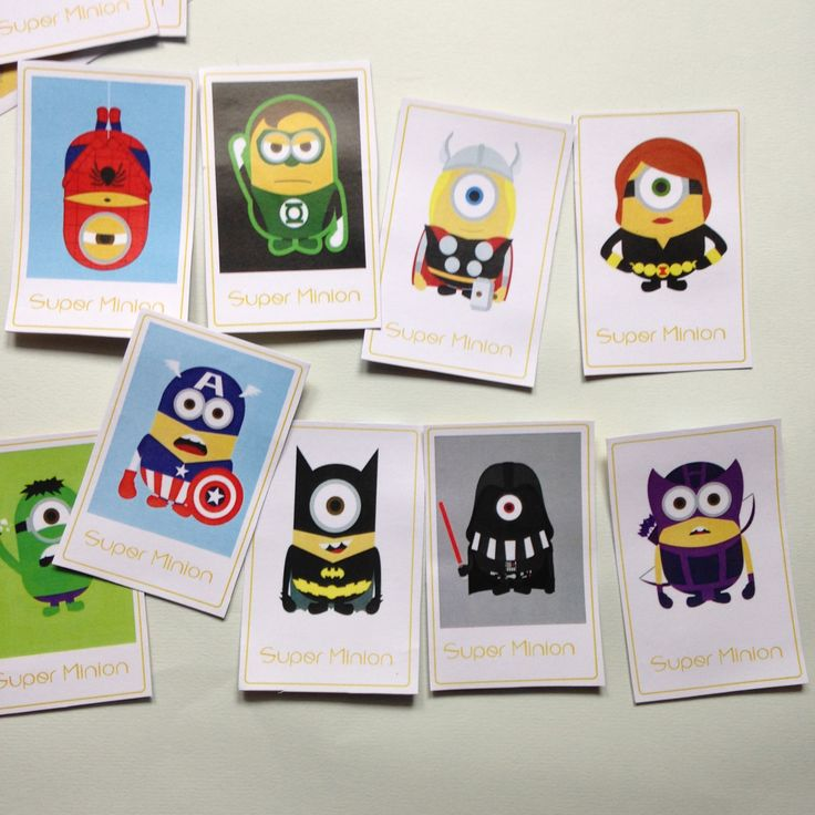 {Free} Un jeu de memory Super Minion à imprimer!                                                                                                                                                                                 Plus