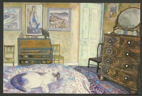 Edward-Bawden-His-Masters-Room-Art-Unused-Postcard-Ref-32-415