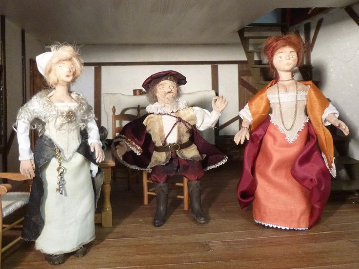 Handmade 1/12 scale dolls at Words and Pictures - visit to see the making-of details
