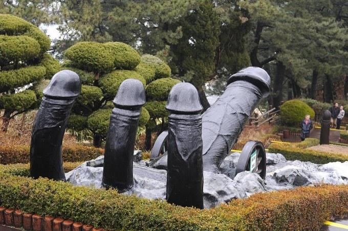 Haesindang Park, South Korea.  Dedicated to the Penis.  Lots of sculptures.