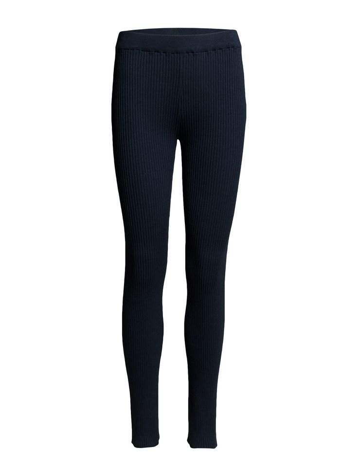 DAY - 2ND Rebi Ribbed fabric Elastic waistband Stretch fabric Chic Excellent quality and fit Functional Simple Pants Trousers Leggings