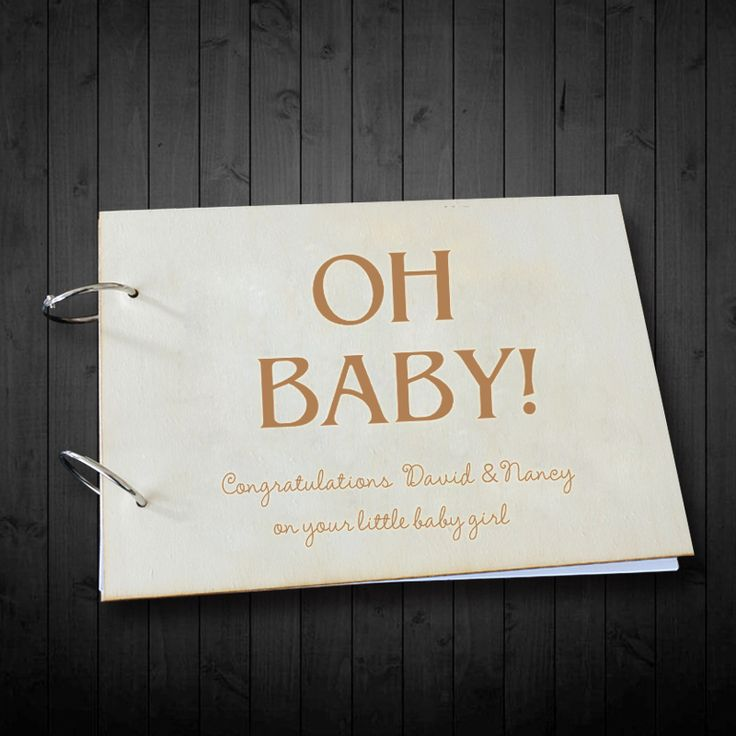 ==> [Free Shipping] Buy Best Personalized Guestbook Custom Name and Date Signature Book Oh Baby Shower Rustic Wooden Guest Book Wedding Gifts Photo Album Online with LOWEST Price   32782607959