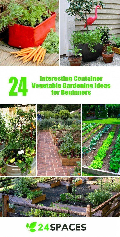 Marvelous 24 Interesting Container Vegetable Gardening Ideas For