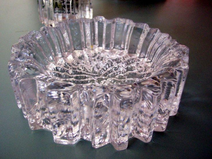 "Hadeland Glassverk - ""Nautilus"" series ashtray/crystal bowl by Willy Johanssen ca 1970"