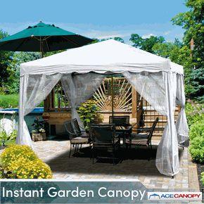 All White Instant Garden Canopy