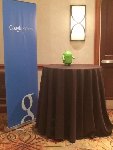 Andy on display at the Google-Morgantown event.