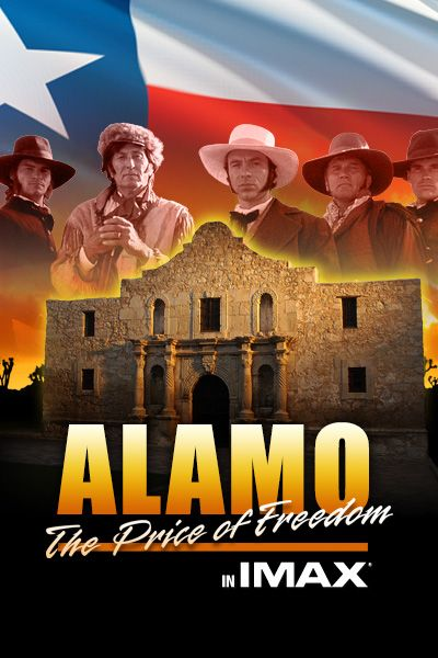 """ALAMO: THE PRICE OF FREEDOM is a stirring tribute to the 189 Texans, Tejanos and settlers who defended the besieged Alamo for 13 days against the Mexican Army of General Santa Anna. Although they were defeated, the memory of the battle rallied Texas troops to fight for independence, and it created the battle cry for generations of Americans, """"Remember the Alamo!"""""""