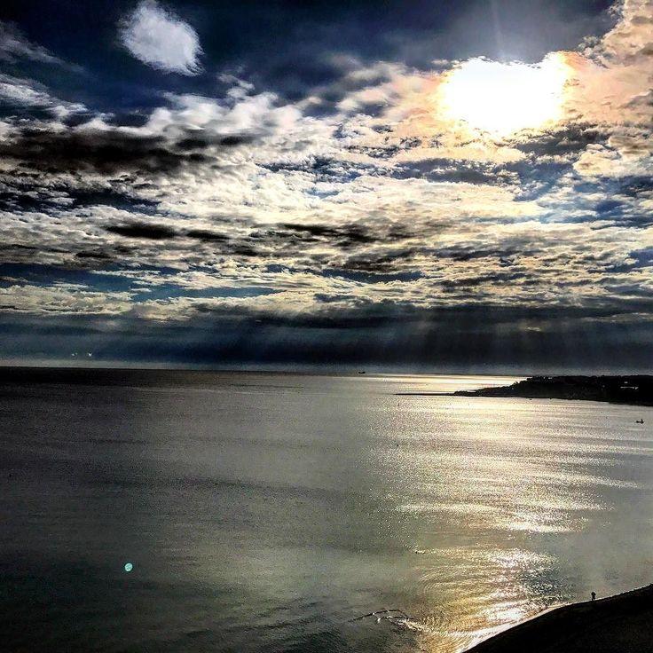 Morning has broken  #timmendorf #niendorf #sea #water #sky #cloud #skylover #nature #seaside #ostsee #timmendorferstrand #lucky #germany #seabridge #weather #ig_worldclub #green #blue #pictureoftheday #iphoneonly #nofilter #seeschloesschenhotel #ocean #beautiful #travel #skyline #dawn #sun