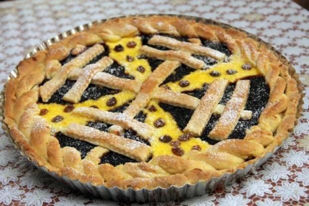 Rýchly koláč s tvarohom a slivkovým lekvárom - recept
