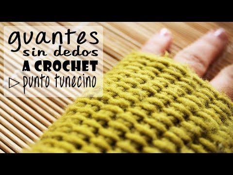 Guantes sin dedos o mitones a crochet, tutoriales incluidos | Manualidades