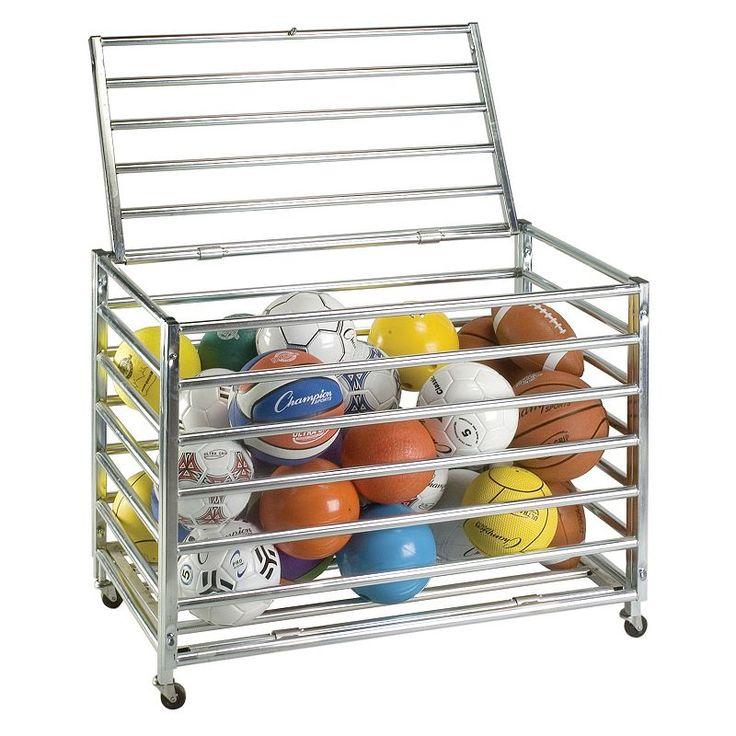 Champion Sports Lockable Ball Storage Locker, Multicolor