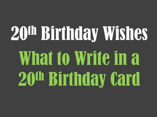 Nice collection of 20th birthday messages and poems