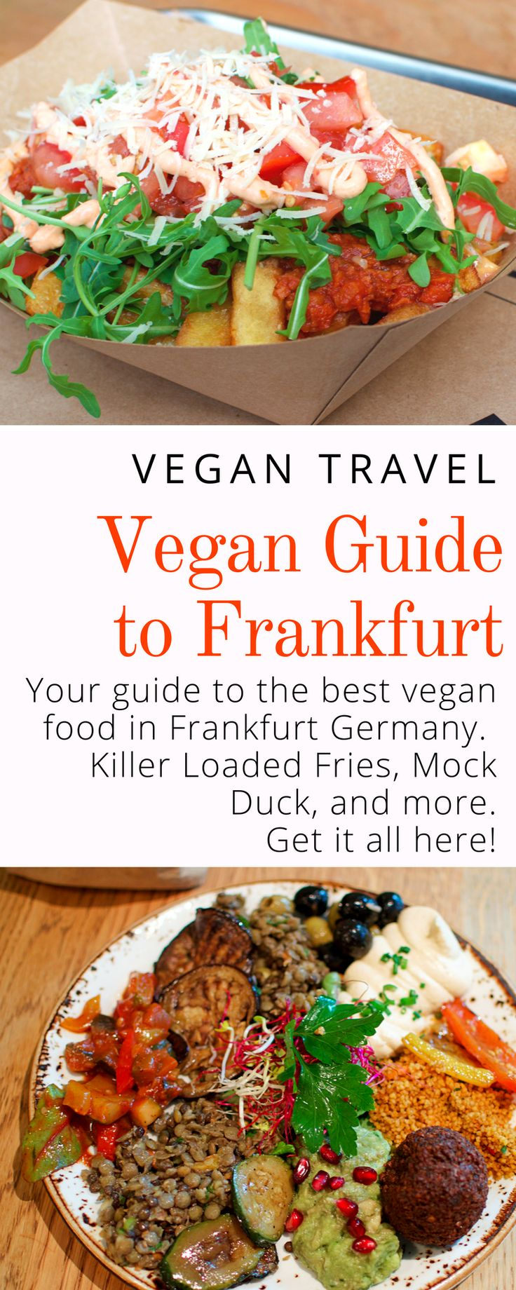 Vegan Guide to Frankfurt: Where to get the best vegan food the city has to offer. Click here now to start planning your vegan travel adventure in Frankfurt Germany!