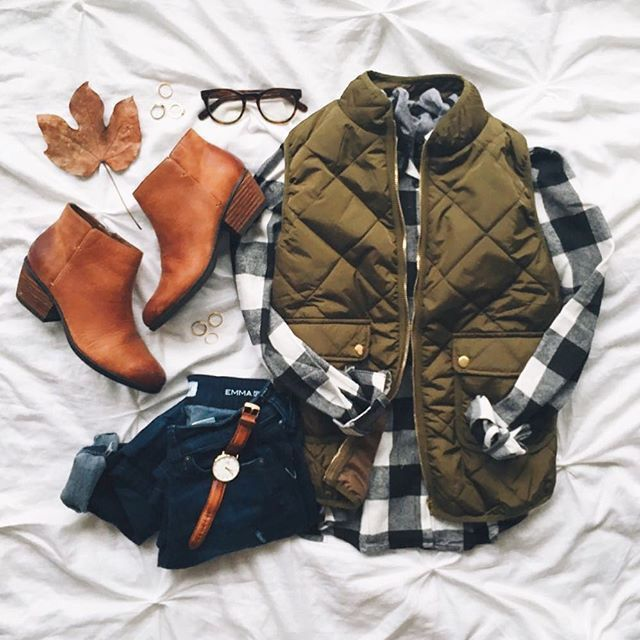 I love the flannel, boots and jeans. I would love to find that watch