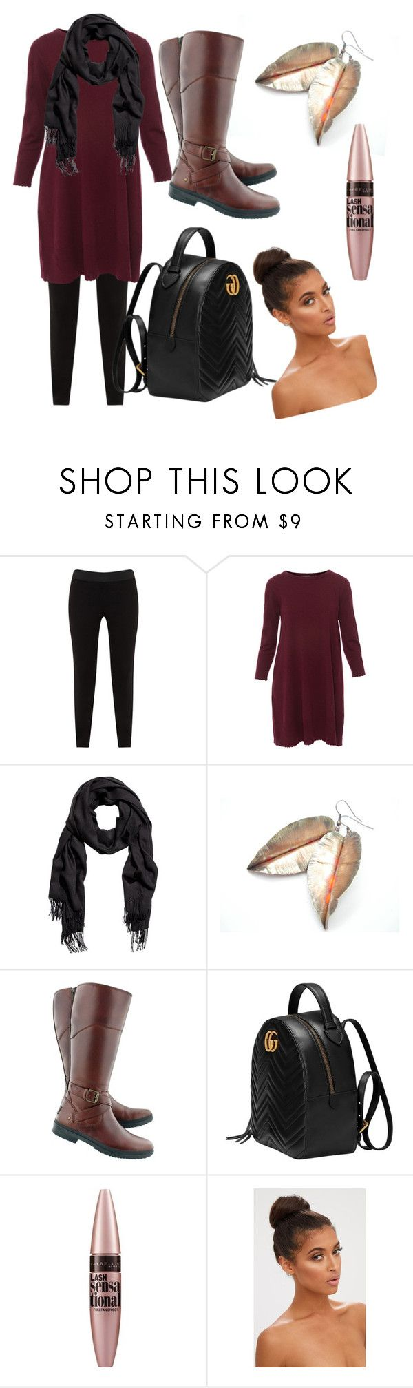 """Untitled #26"" by cescachew ❤ liked on Polyvore featuring JunaRose, Repeat, UGG, Gucci and Maybelline"