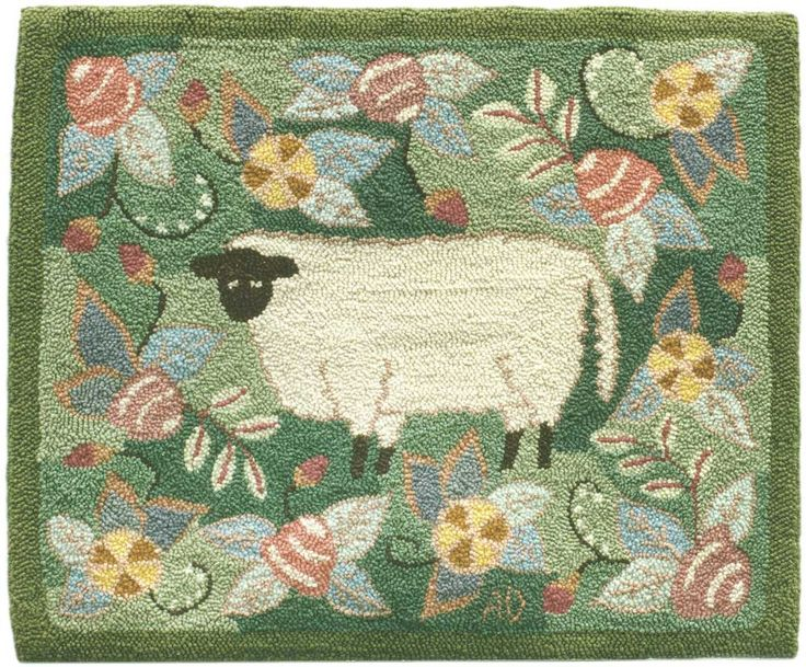 Find This Pin And More On Hooked Rugs ... Farm Animals By Mimtex.