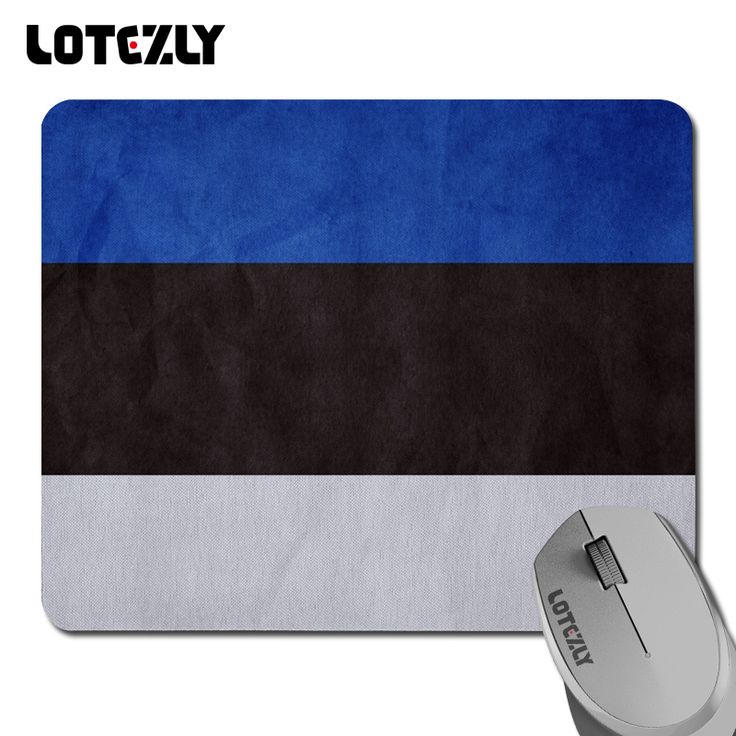 """2016 New mouse mat Estonia Flag gaming mouse pad Lotezly Mouse pads fashion brand mat High quality Size 7.08""""*8.66"""" inch"""