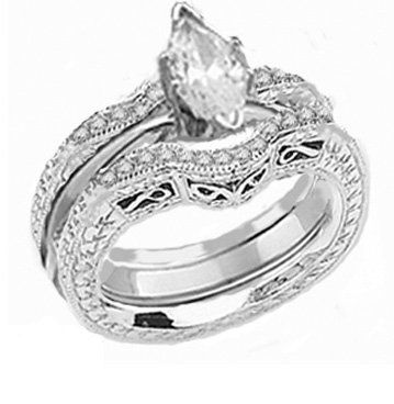 Fine Jewelry 1/5 CT. T.W. White and Champagne Diamond Marquise Ring OH8fmwq0C