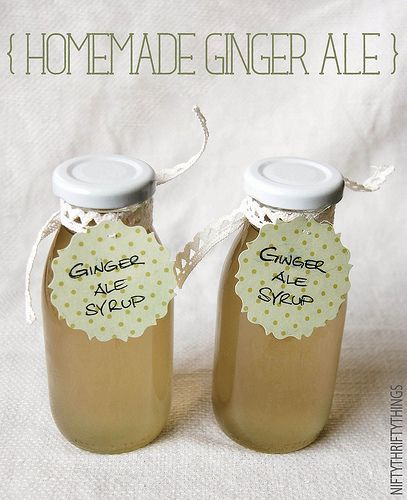 homemade ginger ale syrup - or use hot water for ginger tea, or add rum for a dark 'n stormy!
