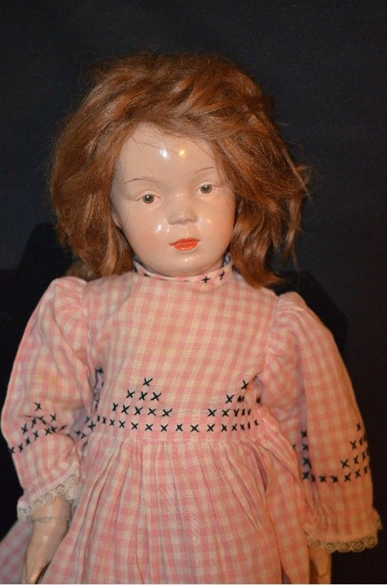 Antique Doll Schoenhut Rare Model Wood Carved Jointed