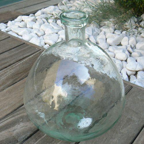Bonbonne en verre transparent martelé Gaia Athezza
