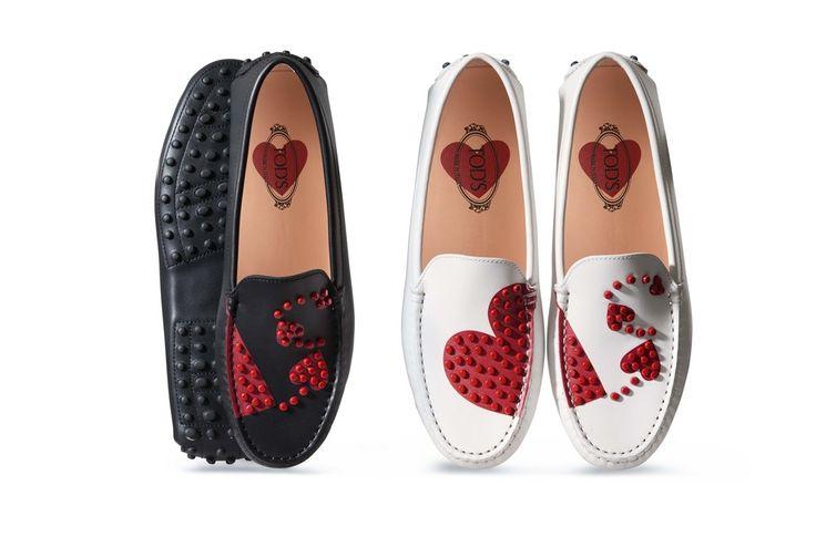 トッズのアイコンシューズゴンミーニがハートとドットでキュートにバレンタインエデ  ィションが発売