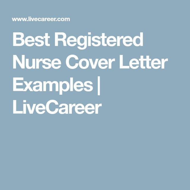 Best 25+ Nursing cover letter ideas on Pinterest Employment - cover letter for a nurse
