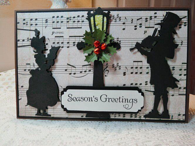 Season's Greetings card - Christmas - Silhouettes