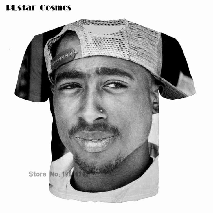men/women/girl/boy fashion T-shirt 3D print tuge life tupac 2pac hip hop t shirt tee shirts summer tops plus size 5XL #Affiliate