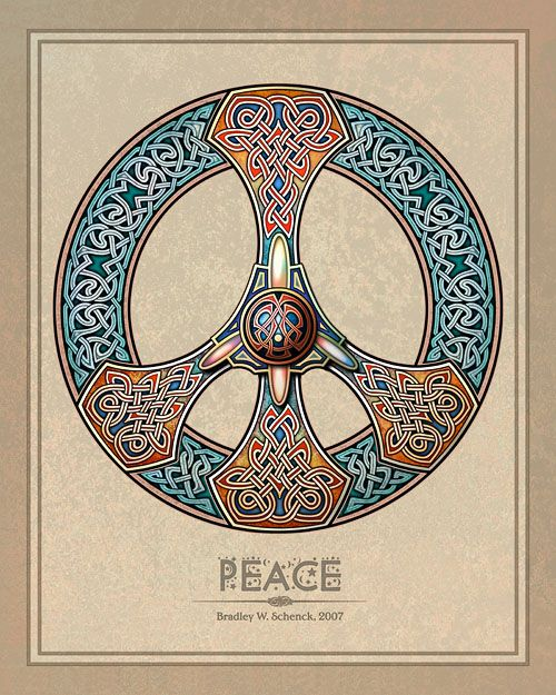 Celtic Knotwork Peace Sign