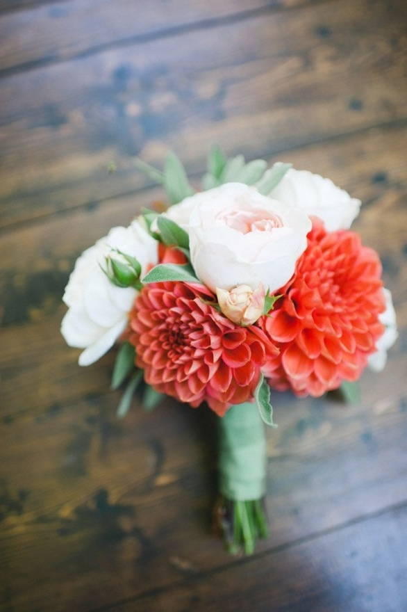 lovely color palette: coral, seafoam green, light pink #wedding