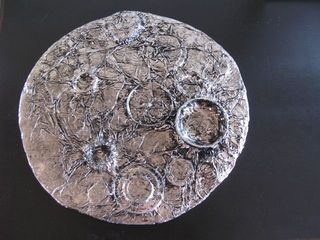 Tin Foil Moon - Gluing, and covering with tin foil is DAP. They can use their imaginations, and creativity to create their moon anyway that they want it.