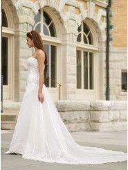 Tiara Satin Sweetheart Slimming Boned Bodice A-line Wedding Dress