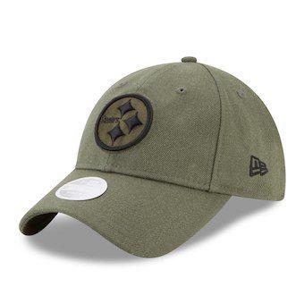 7525782d1abd4 Women s Pittsburgh Steelers New Era Olive Green Preferred Pick 9TWENTY  Adjustable Hat