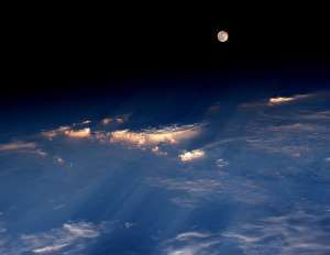 Space Station View of the Full Moon - NASA