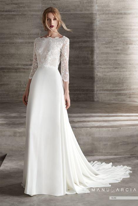 colección 2019 de vestidos de novia de manu garcía - modelo nube