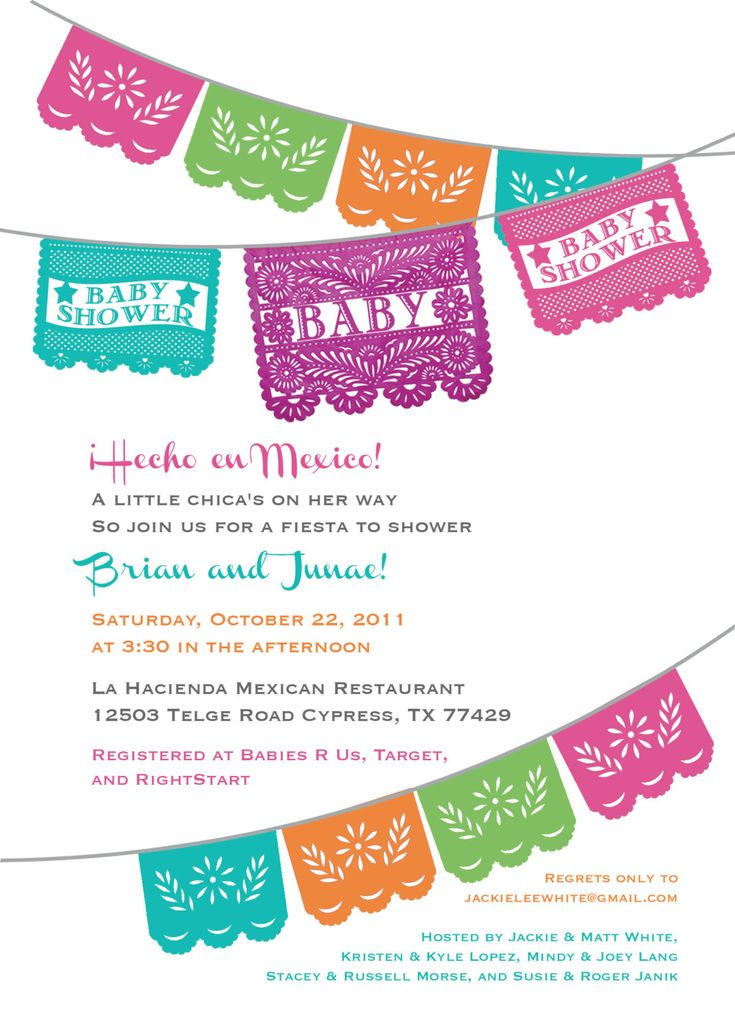 Papel+Picado+Baby+Shower+Invitation+and+words+by+Vintagebabydoll,+$40.00