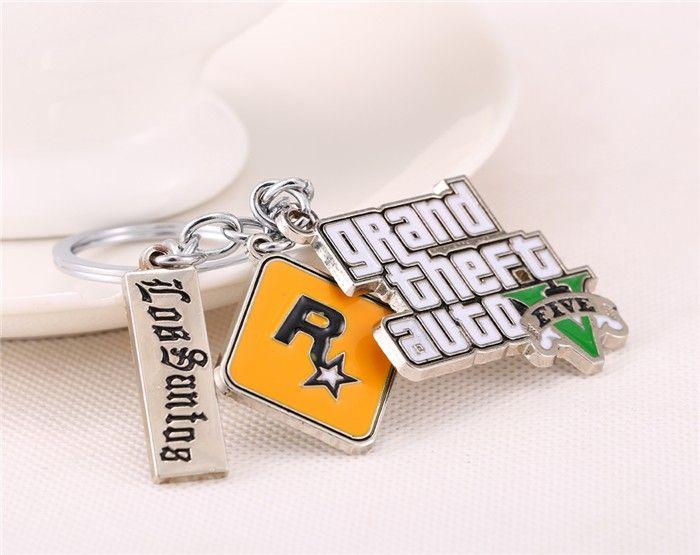 GTA 5 Rockstar Games Los Santos Logos Keychain - Pica Collection