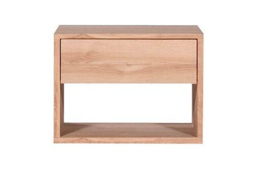 mesa de luz de madera con cajón | diseño | minimalista