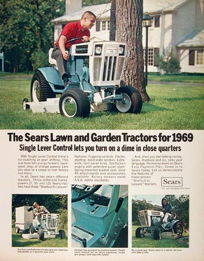 Sears Lawn And Garden Tractors : Best images about lawn mowers and garden tillers on