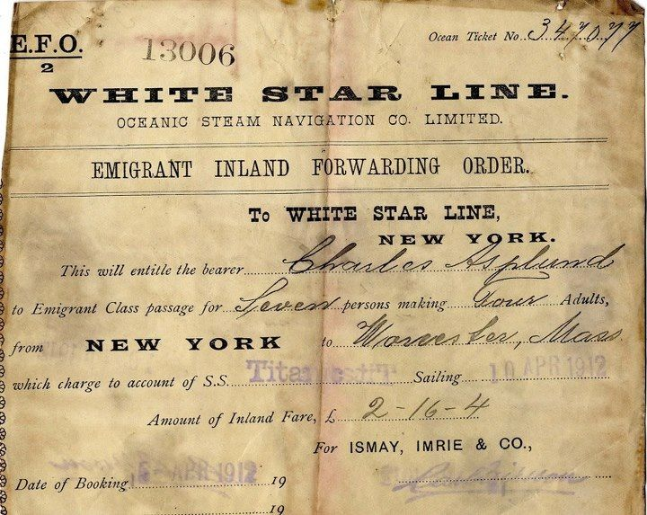 Rare Titanic passenger ticket, I researched his name and he survived, aged 23 years old during the disaster.