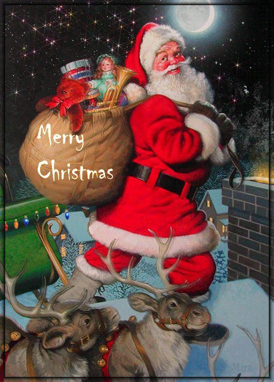 Papai Noel chaminé Gif