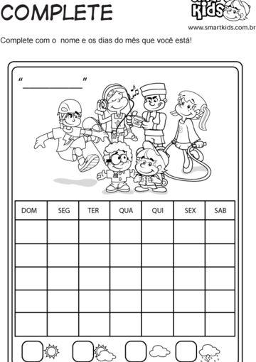 Complete Calendário