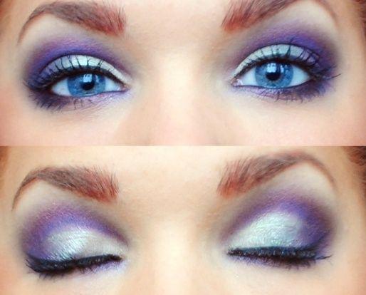 Ooh La La!Bright Eye, Purple Eyeshadows For Blue Eye, Brown Eye, Dramatic Eye, Eye Shadows, Makeup Tips, Makeup Eye, Purple Eye Makeup, Green Eye