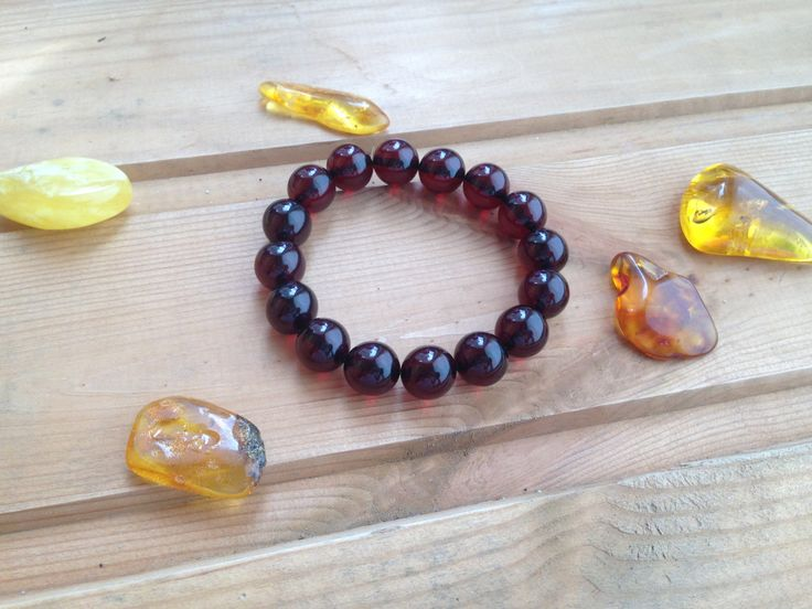 Amber Beaded Bracelet by AmberFromBaltic on Etsy