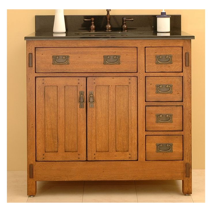 Craftsman style bathroom cabinets craftsman bath pinterest craftsman style bathrooms for Craftsman style bathroom vanities