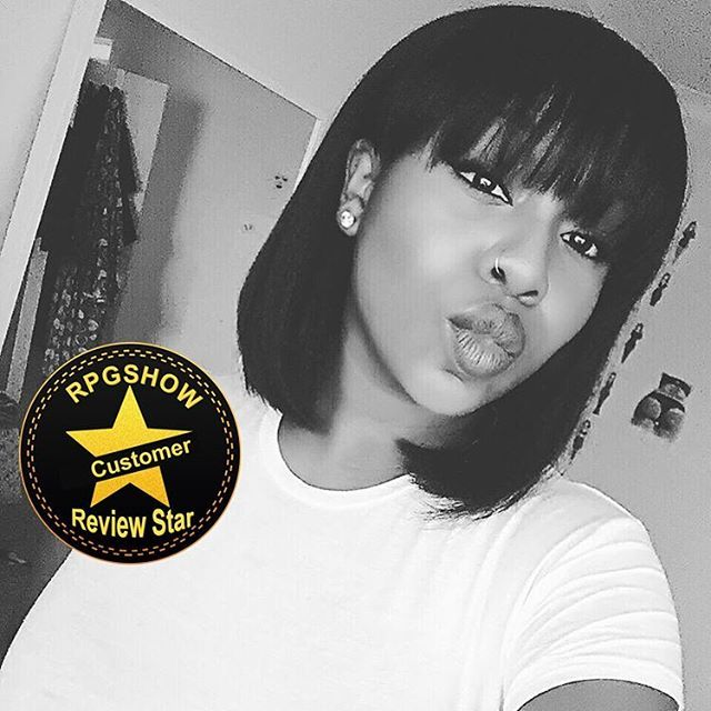 Yasss! Our sweet customer @mo.mens looks sooo gorge in this Rihanna  inspired bangs wig! This bangs wig is ➡️SC013⬅ at www.rpgshow.com !