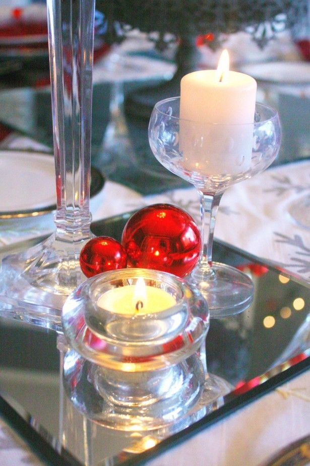 Mirrors Can Add A Dramatic Flair To Holiday Table Decor Franksglass