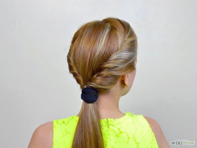 retro inspired hair roll